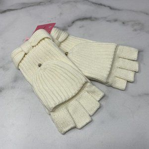 Kate Spade Bow Pop Top Gloves in Cream